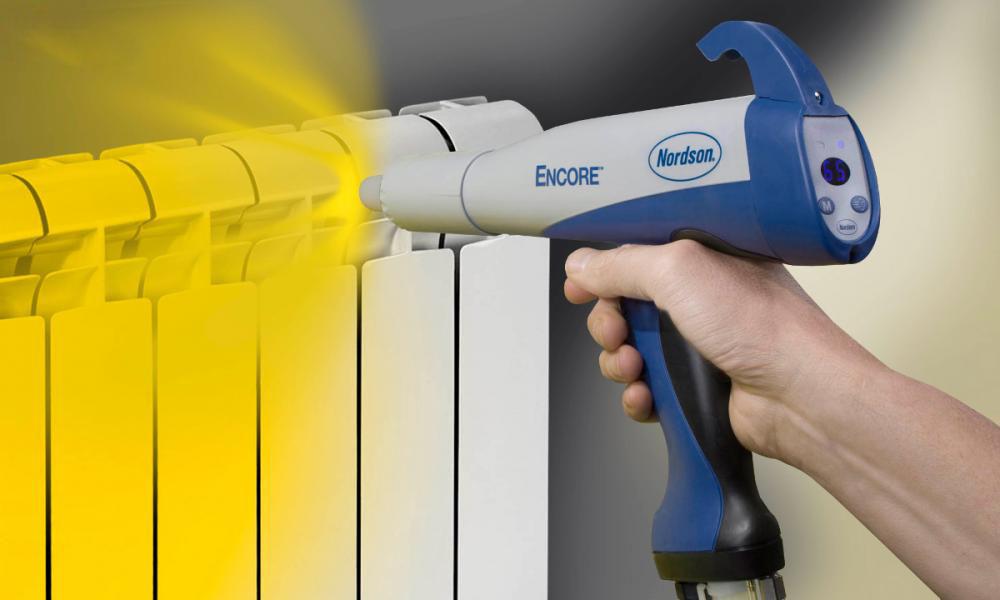 Окрашивание радиатора порошковой краской