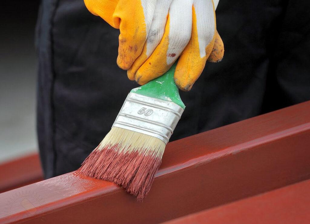 Резиновая краска для металла